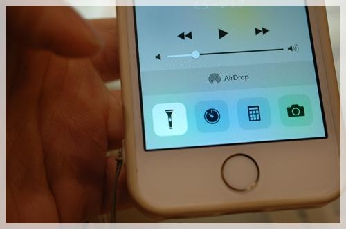 iPhoneのライト