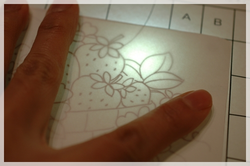 型紙を写す方法