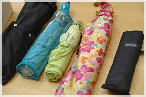 折りたたみ傘ってサイズがバラバラ