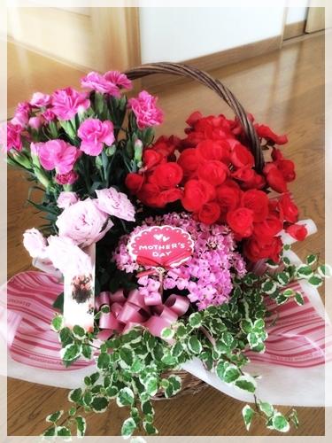 母の日に贈ったお花