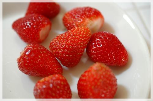 イチゴを用意