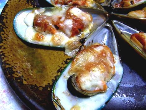 7-ムール貝のチーズ焼き