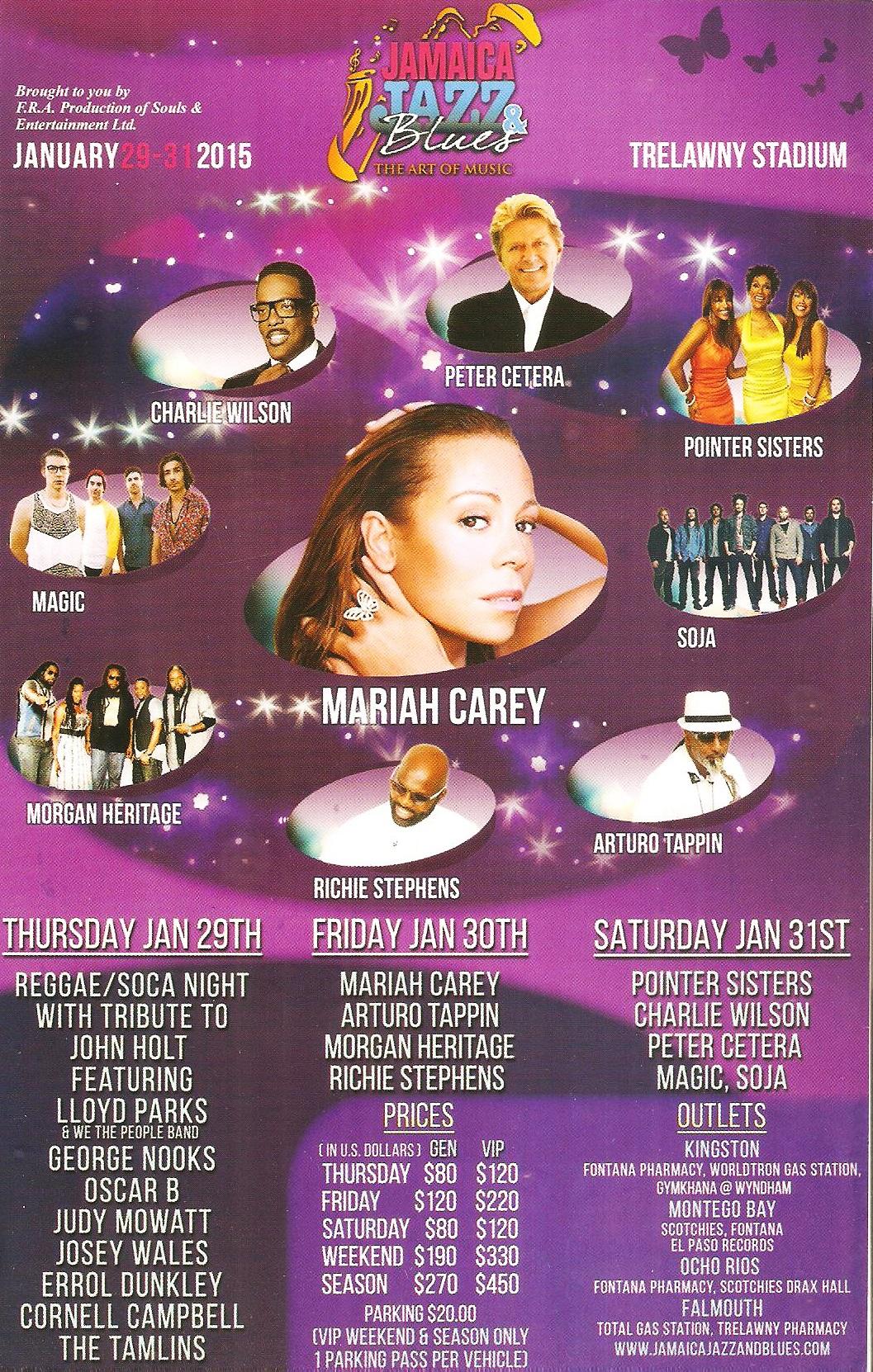 Jazz Festival Jamaica マライア・キャリー ジャマイカ