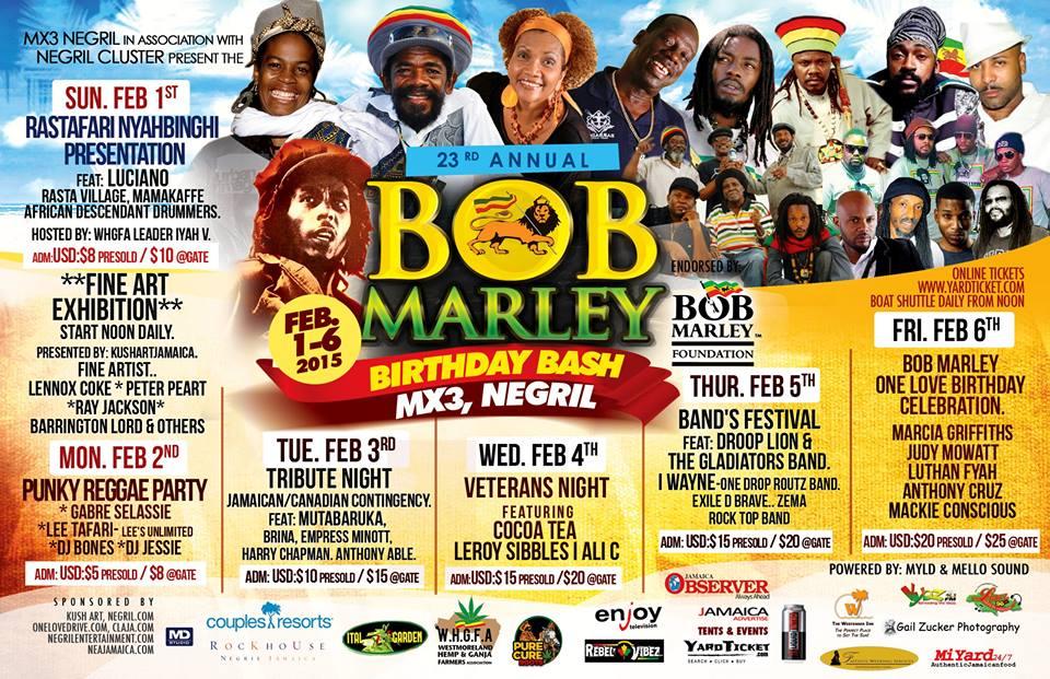 Bob Marley Event Negril Jamaica ボブ・マーレー ジャマイカ