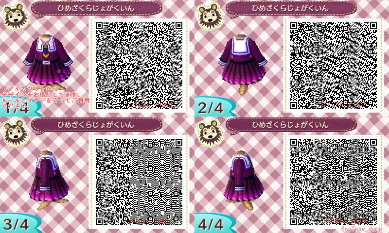 姫桜女学院の制服のQRコード