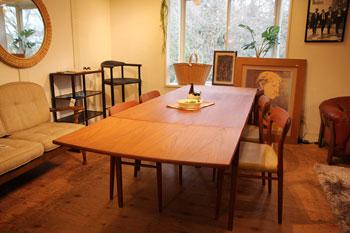 北欧家具 ヴィンテージ ダイニングテーブル チーク材 伸長式