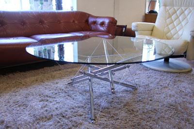 カッシーナ cassina 713 ガラスローテーブル