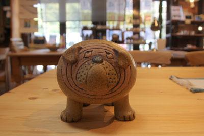 北欧ヴィンテージ 陶器 リサラーソン ブルドック