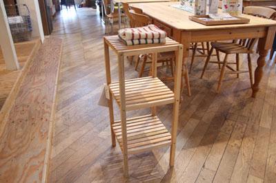 インテリア家具 ディスプレイ 天然木 2段シェルフ