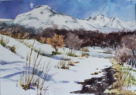 茶臼山はまだ冬