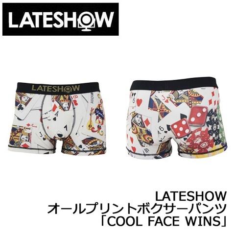 2015-1-9 レイトショー [LATESHOW] オールプリントボクサーパンツ 「COOL FACE WINS」
