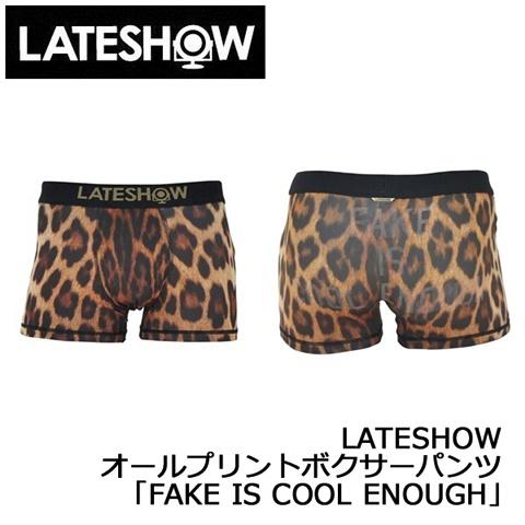 2015-1-9 レイトショー [LATESHOW] オールプリントボクサーパンツ 「FAKE IS COOL ENOUGH」