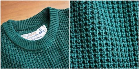 2015-01-26 98-GU511001S green 畦編みニットボーダークルーネックセーター 4