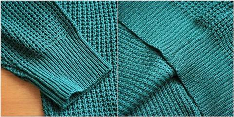 2015-01-26 98-GU511001S green 畦編みニットボーダークルーネックセーター 5