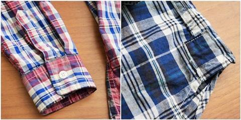 2015-02-25 27-BR6254-55イエロー バーンズアウトフィッターズ[BARNS OUTFITTERS] 立体縫製マドラスチェック長袖ボタンダウンシャツ 5