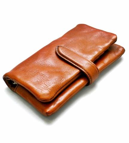 2015-02-26 12-3373-brown ホークカンパニー[Hawk Company] イタリアンレザー  ラウンドジップビッグウォレット 1