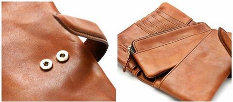 2015-02-26 12-3373-brown ホークカンパニー[Hawk Company] イタリアンレザー  ラウンドジップビッグウォレット 5