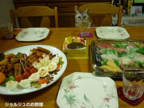 誕生日のお料理