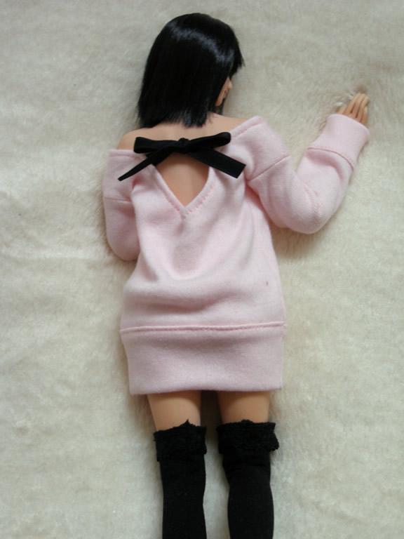 pink one piece dress1