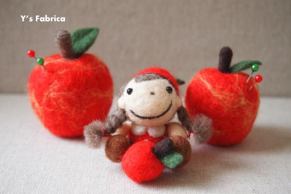 りんごのピンクッション♪