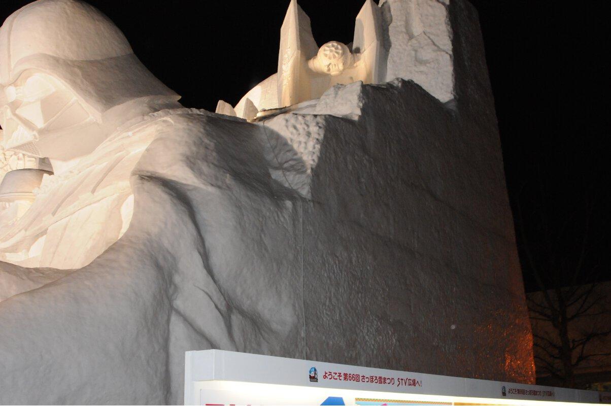 第66回さっぽろ雪まつり_ダースベイダー横