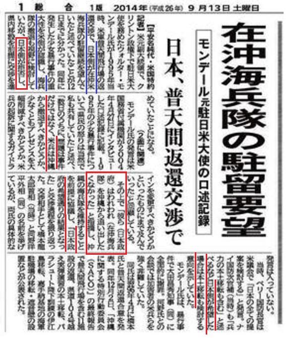 沖縄基地移設問題