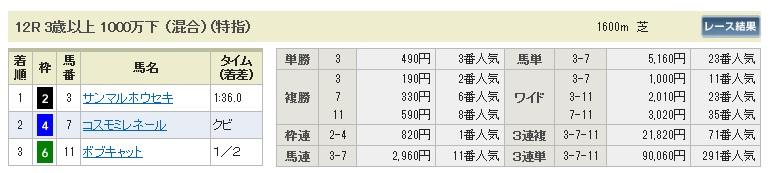 1221中山12(日刊コンピ 馬券生活 的中 万馬券 三連単 札幌競馬)