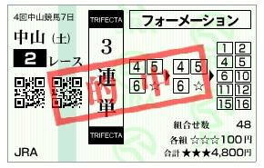 【的中馬券】1227中山2(日刊コンピ 馬券生活 的中 万馬券 三連単 札幌競馬)