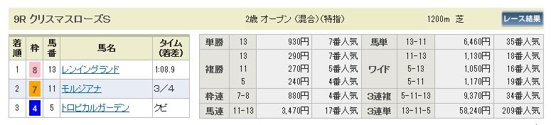 1227中山9(日刊コンピ 馬券生活 的中 万馬券 三連単 札幌競馬)