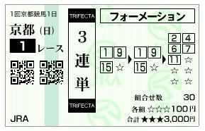 【馬券】0104京都1(日刊コンピ 馬券生活 的中 万馬券 三連単 札幌競馬)