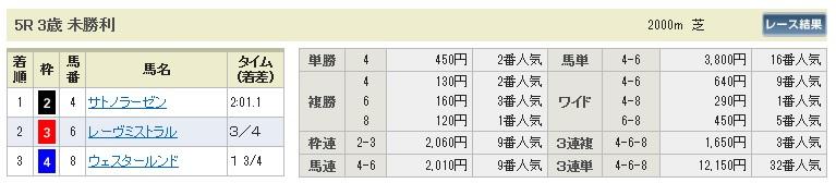 0105京都5(日刊コンピ 馬券生活 的中 万馬券 三連単 札幌競馬)
