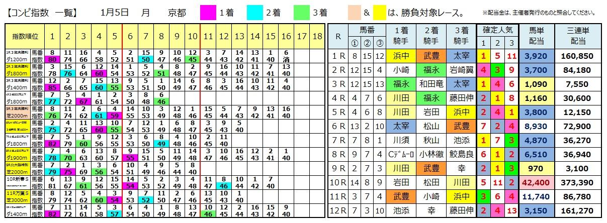 0105京都(日刊コンピ 馬券生活 的中 万馬券 三連単 札幌競馬)