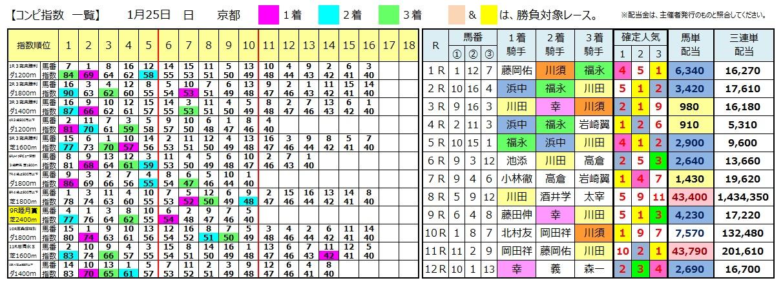 0125京都(日刊コンピ 馬券生活 的中 万馬券 三連単 札幌競馬)