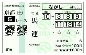 【馬券】0208京都5(3)(日刊コンピ 馬券生活 的中 万馬券 三連単 札幌競馬)
