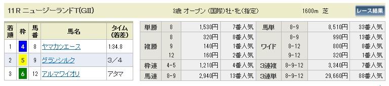 【払戻金】0411中山11(日刊コンピ 馬券生活 的中 万馬券 三連単 札幌競馬)