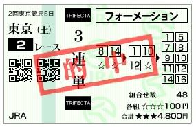 【的中馬券】0509東京2(日刊コンピ 馬券生活 的中 万馬券 三連単 札幌競馬)