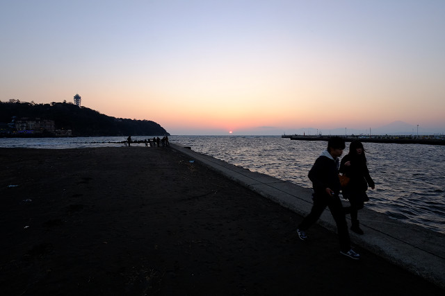 Distagonと夕焼け