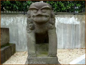 20150621  狛犬 1  バッサリ木のお寺
