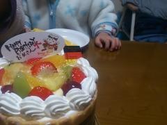 誕生ケーキ。