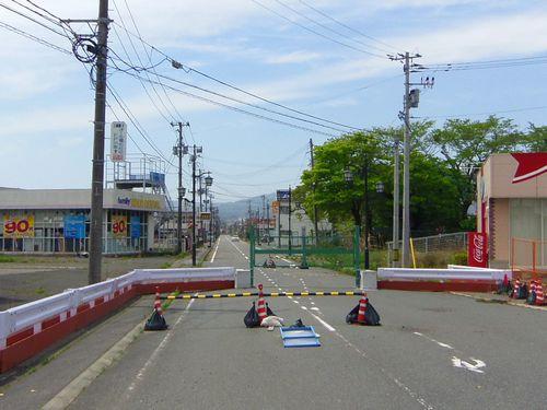 国道6号線13浪江バリケード