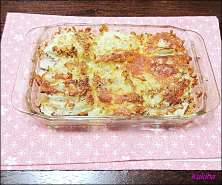 たまねぎとハムのパン粉チーズ焼き