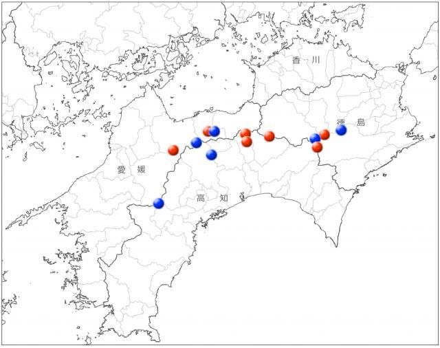 オオヤマレンゲの分布