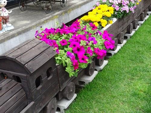 列車の花台