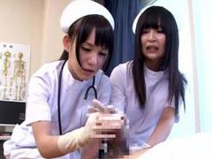 早漏患者を寸止めで治療する泌尿器科の痴女ナース!小西まりえ ほのかまゆ
