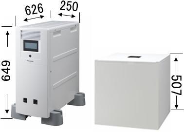 パナ・シャープ蓄電池サイズ比較