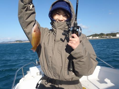 初魚ゲット