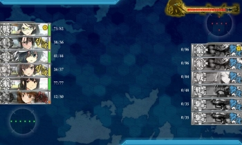 E-2ボス戦1回目夜戦終了