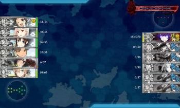 E-3ボス戦8回目夜戦終了