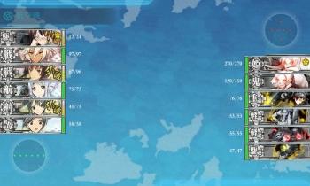 201504 5-2珊瑚諸島ボス戦2戦目昼戦
