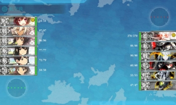 201504 5-2珊瑚諸島ボス戦3戦目昼戦